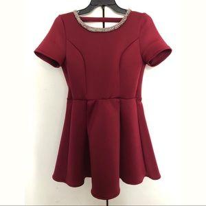 Tobi: Maroon Pouf Dress (NWOT)